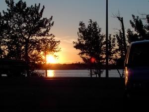 Our last Sylvan Lake sunset.