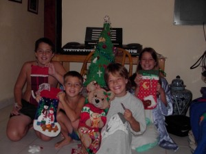Our first Christmas in Mexico.