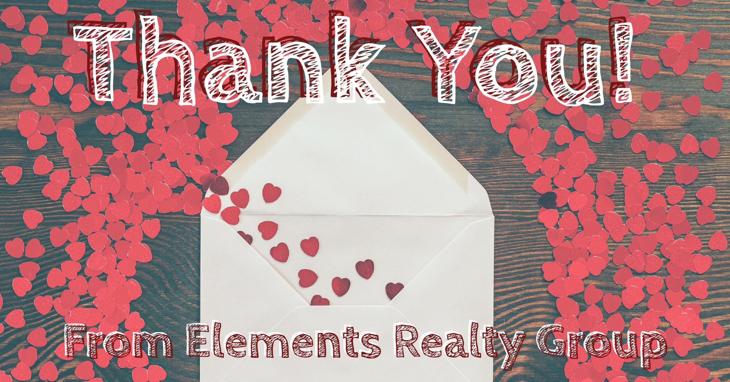 Thank you from Elements Realty Group